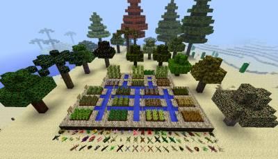 Мод SimCraft огромное количество декораций, руд и блоков