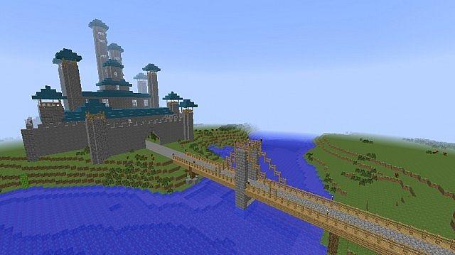 Карта для Майнкрафт 1.7.10 деревня - YouTube