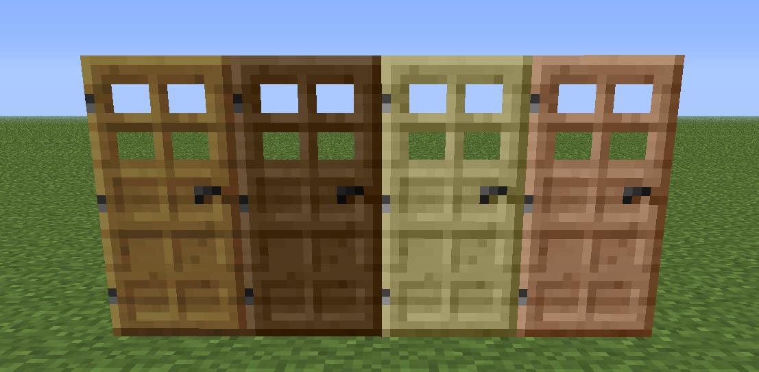 Как сделать двери в заборе в minecraft