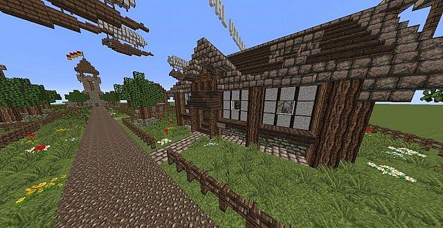 скачать карту маленькую деревню для майнкрафт 1.7.10