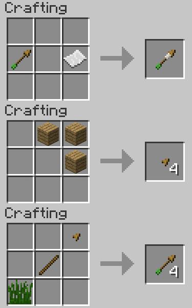 как сделать стрелы в майнкрафте #5