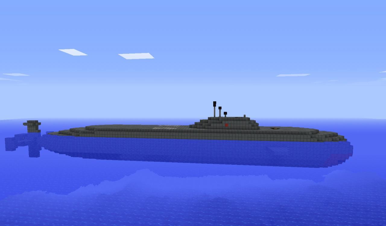 карта майнкрафт виживание на подводной лодке #5